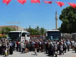 Karaman'da Ramazan Umrecileri Uğurlandı