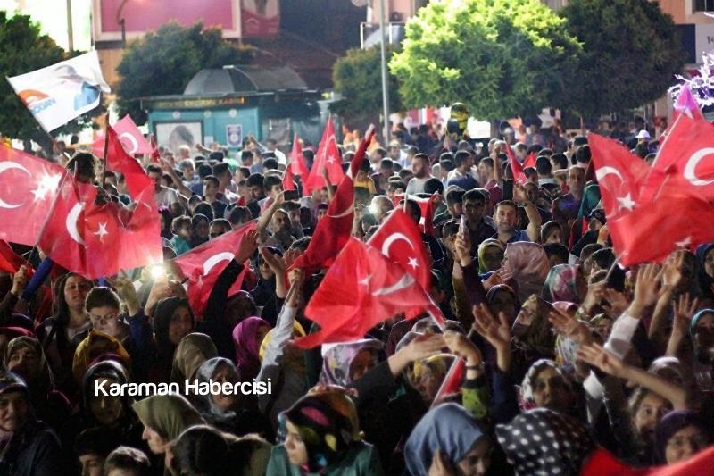 Karaman Halkı Demokrasi Yürüyüşünde Tek Yürek Tek Nefes 10
