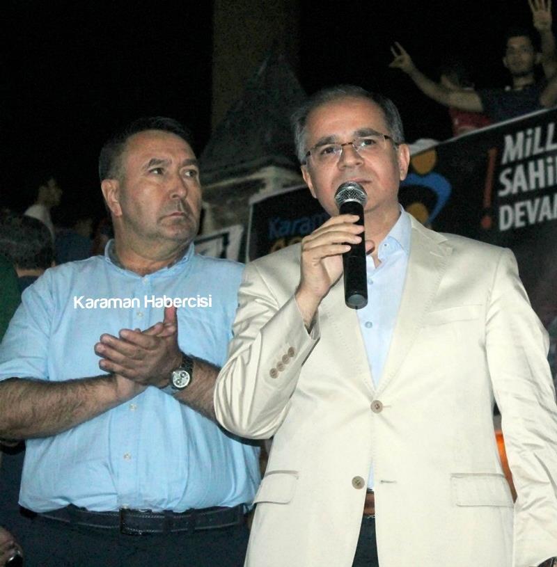 Karaman Halkı Demokrasi Yürüyüşünde Tek Yürek Tek Nefes 11