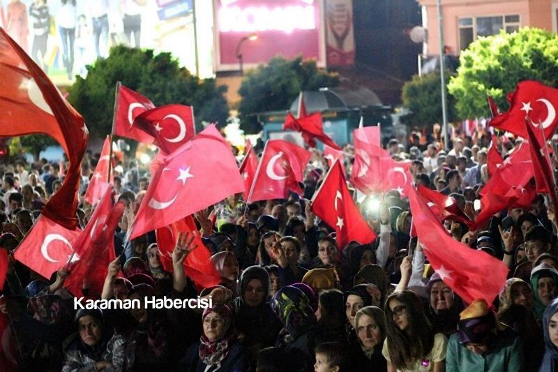 Karaman Halkı Demokrasi Yürüyüşünde Tek Yürek Tek Nefes 12