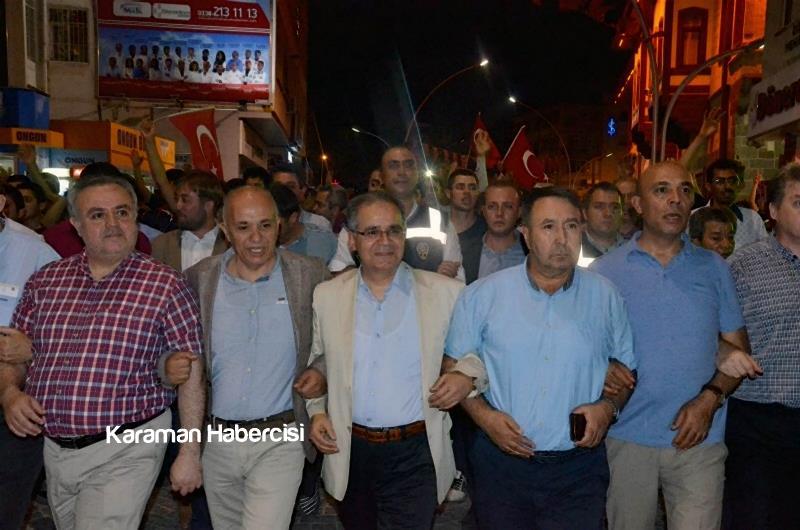 Karaman Halkı Demokrasi Yürüyüşünde Tek Yürek Tek Nefes 3