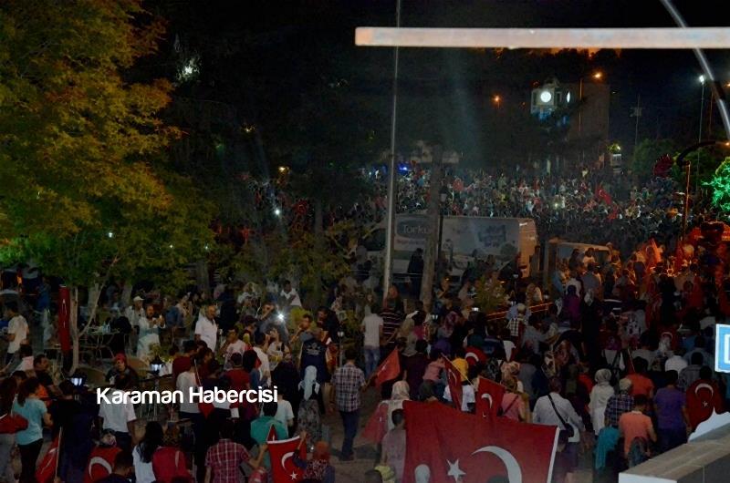 Karaman Halkı Demokrasi Yürüyüşünde Tek Yürek Tek Nefes 5