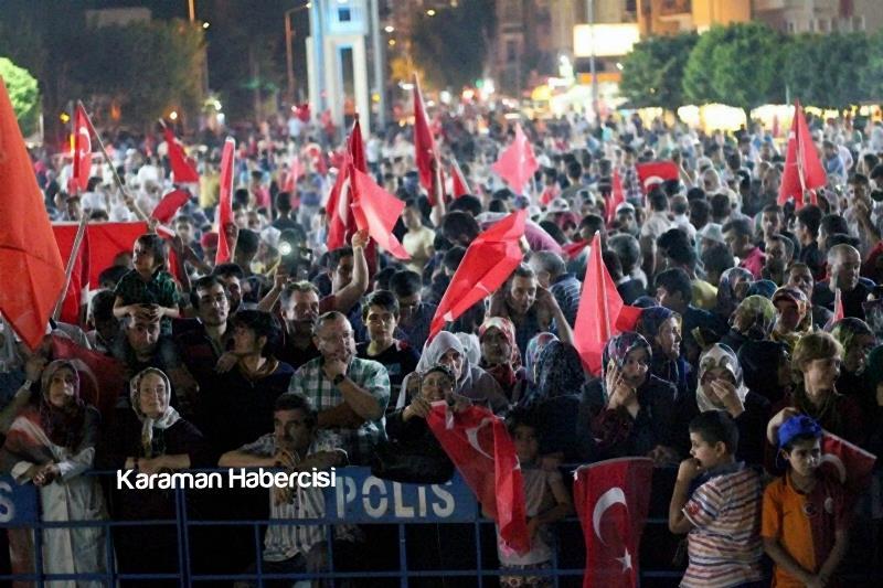 Karaman Halkı Demokrasi Yürüyüşünde Tek Yürek Tek Nefes 6