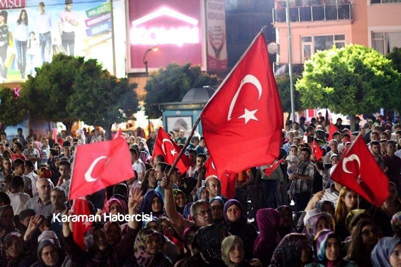 Karaman Halkı Demokrasi Yürüyüşünde Tek Yürek Tek Nefes 7