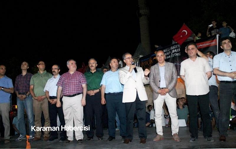 Karaman Halkı Demokrasi Yürüyüşünde Tek Yürek Tek Nefes 8