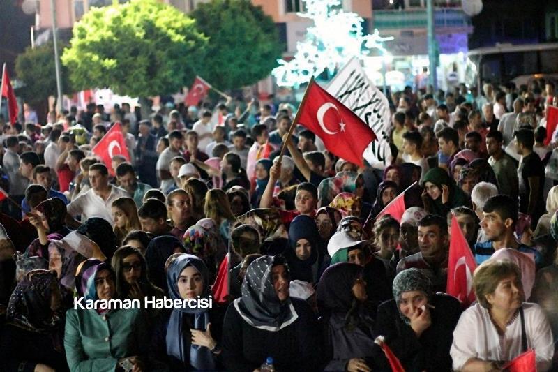 Karaman Halkı Demokrasi Yürüyüşünde Tek Yürek Tek Nefes 9