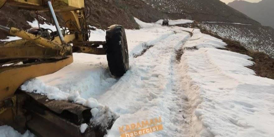 Kar ve Kış Karaman'da Kendini Göstermeye Başladı