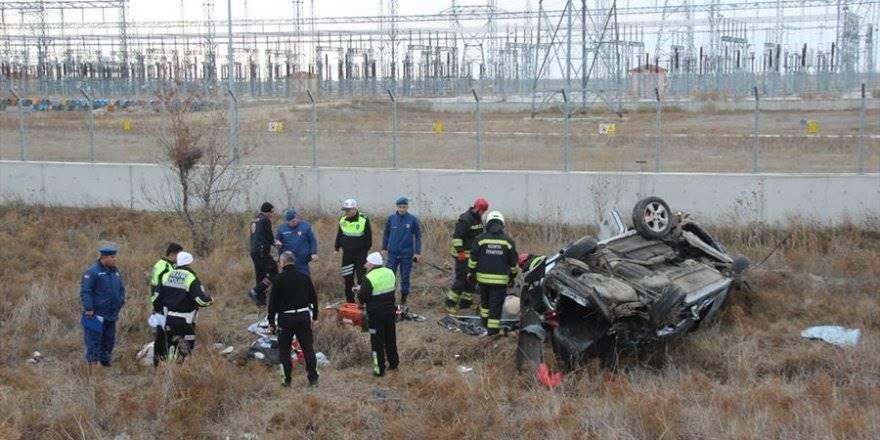 Konya'da Feci Trafik Kazası:1 Ölü, 6 Yaralı