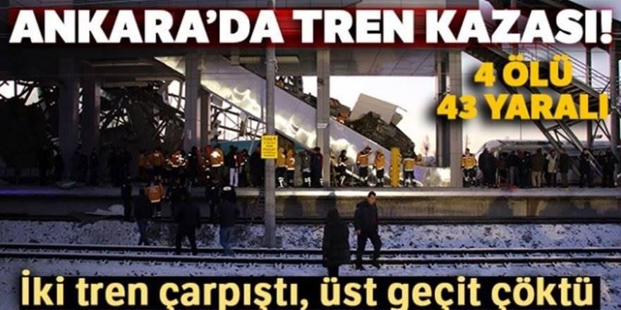 Ankara-Konya Serferini Yapan YHT Kontrol Treni İle Çarpıştı