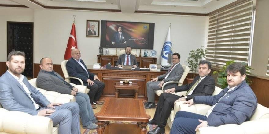 KTSO Başkanı ve Yönetim Kurulu Üyelerinden Rektör Mehmet Akgül'e Zi