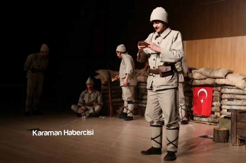 """""""Seddülbahir Yahya Çavuş"""" Tiyatro Oyunu Sahnelendi 1"""