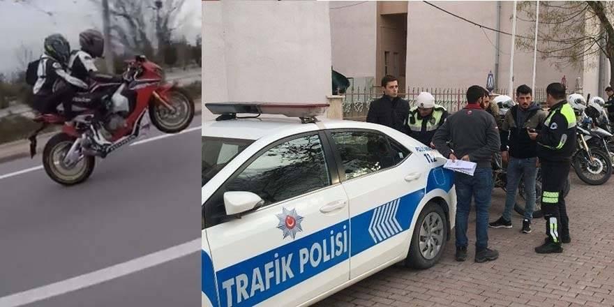 Konya'da Tek Teker Üstünde 148 Km Hızla Polis Aracının Yanından Geç