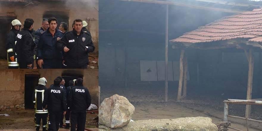 Konya'da Ahırda Çıkan Yangında 3 Büyükbaş Hayvan Telef Oldu