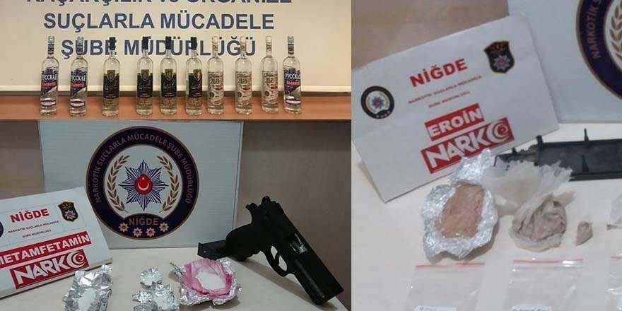 Niğde'de Kaçakçılık Ve Uyuşturucu Operaysonları