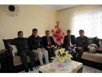 Vali Tapsız, Ermenek'te Şehit ve Gazi Ailesini Ziyaret Etti