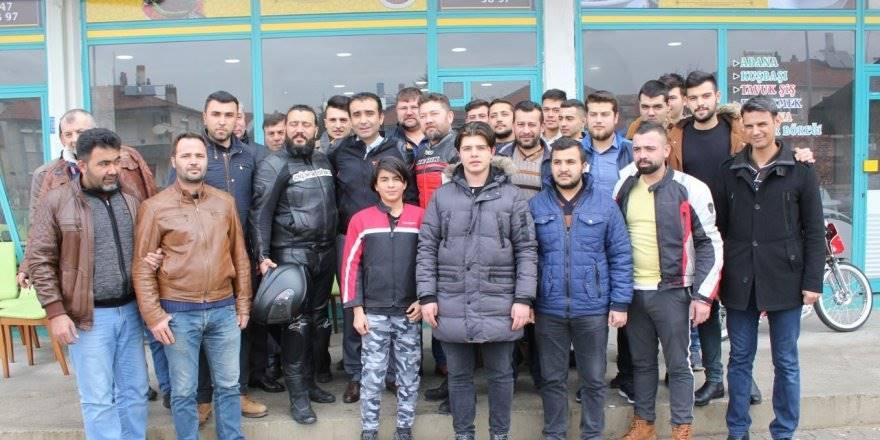 MHP Belediye Başkan Adayı Savaş Kalaycı Motosiklet Tutkunlarıyla Bir ara