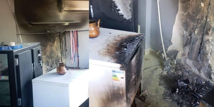 Alanya'da Barda Korkutan Yangın