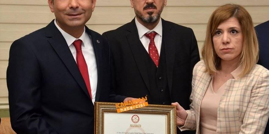 Karaman Belediye Başkanı Savaş Kalaycı Mazbata Töreni