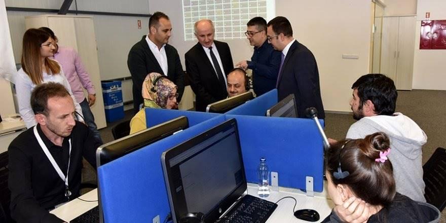 Karaman Valisi Fahri Meral Alo 170 İletişim Merkezini Ziyaret Etti