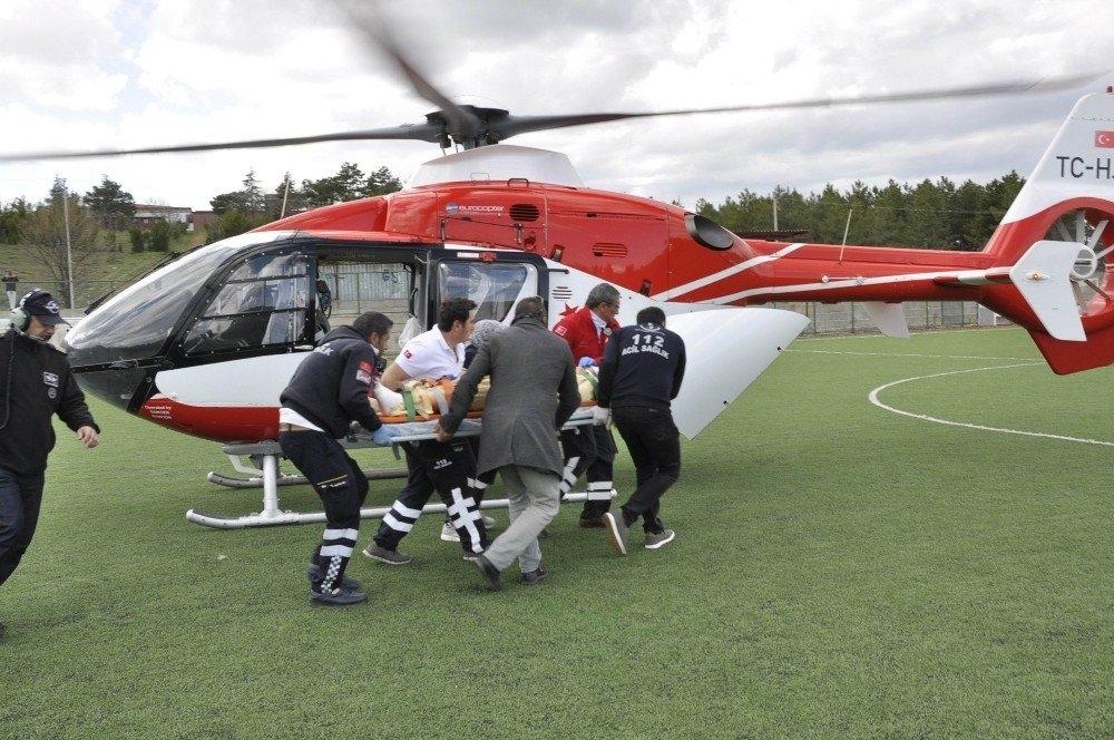 Konya'da Ayağını Çapa Makinesine Sıkıştıran Kişi Ağır Yaralandı 1