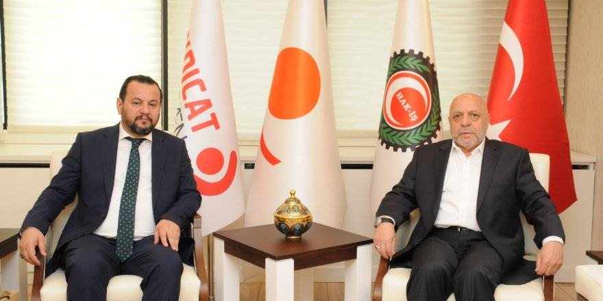 KMÜ Rektörü Mehmet Akgül'den Hak-İş Genel Başkanına Ziyaret