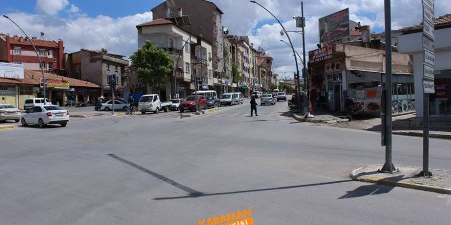 Karaman'da 4 Yolda Dikkat Çeken Tek Refüj
