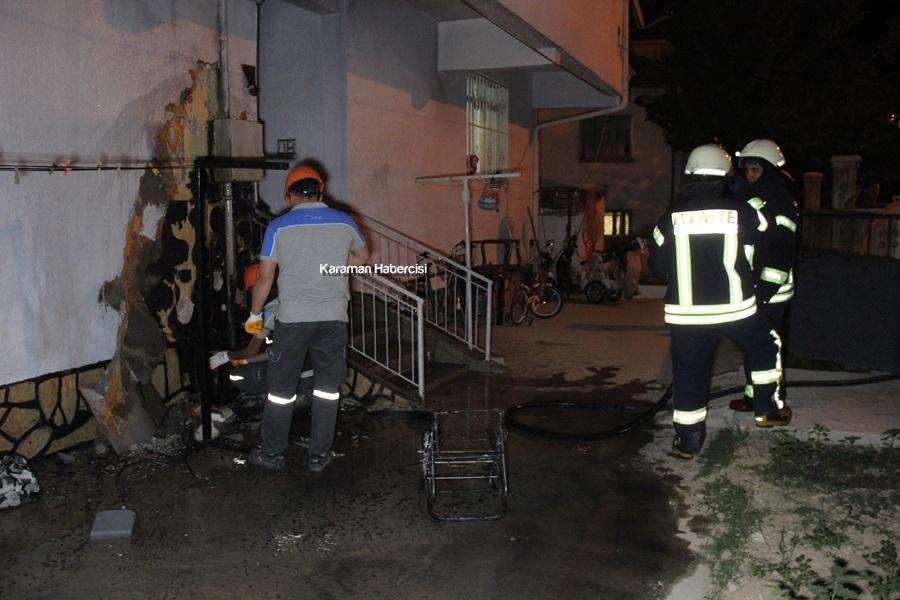 Karaman'da Yanan Bebek Arabası Apartmanı Uçuracaktı 1