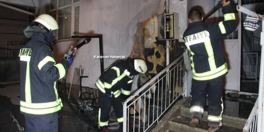 Karaman'da Yanan Bebek Arabası Apartmanı Uçuracaktı
