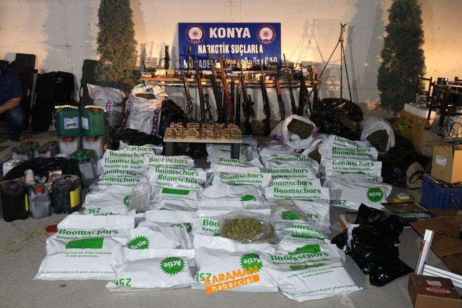 Konya'da Uyuşturucu İmalathanesine Operasyon 1