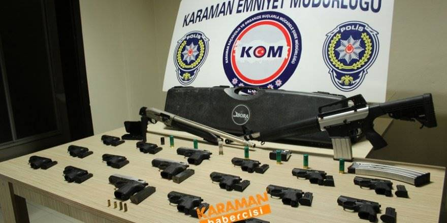 Karaman'da kaçak silah operasyonu