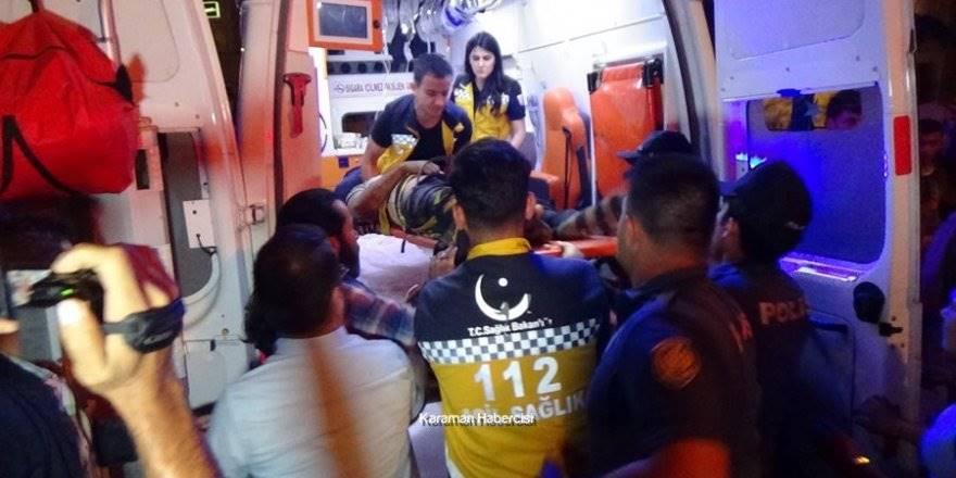Karaman'da Yüksekten Düşme ve Vurulma Olayı