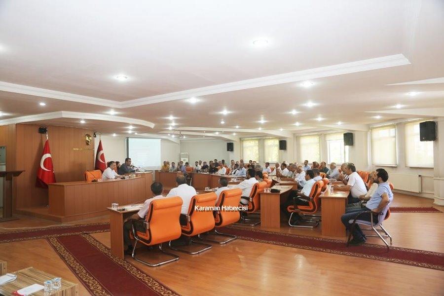 Karaman Belediyesi Muhtarlar Toplantısı 1