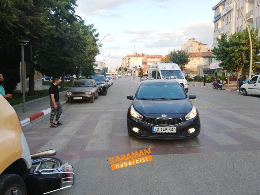 Karaman Belediyesi Önünde Trafik Kazası 1