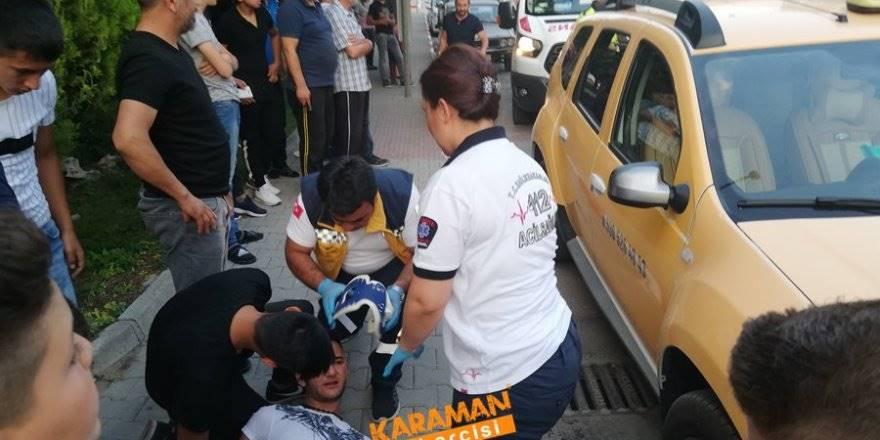 Karaman Belediyesi Önünde Trafik Kazası
