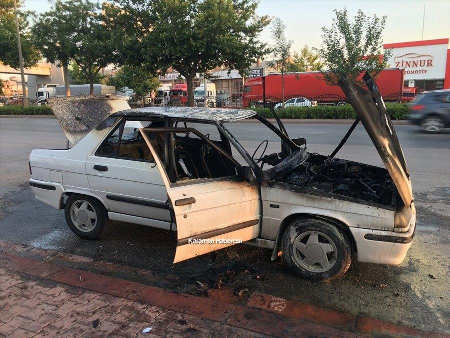Konya Otomobil Yangını 1