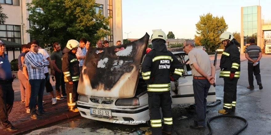 Konya Otomobil Yangını