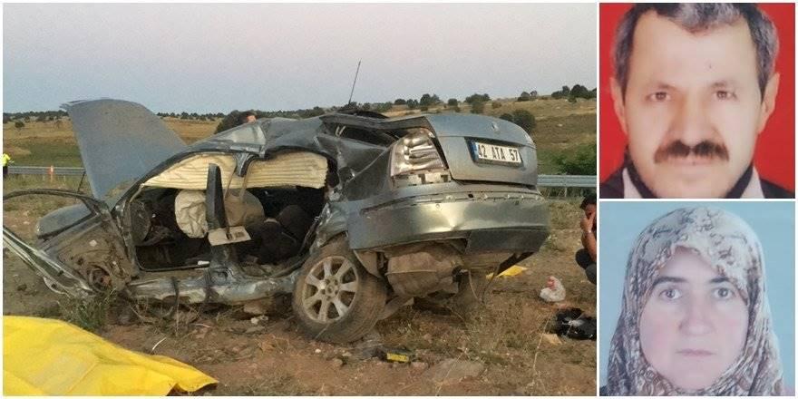Konya'da Trafik Kazası : 2 Ölü