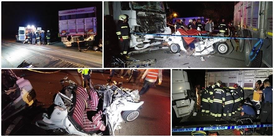 Konya Ereğli Trafik Kazası : 3 Ölü