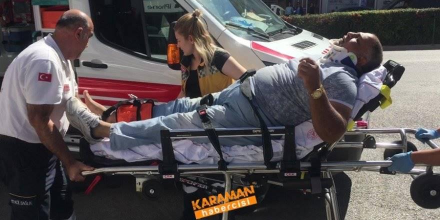 Karaman'da Polis Otosu İle Elektrikli Bisiklet Çarpıştı