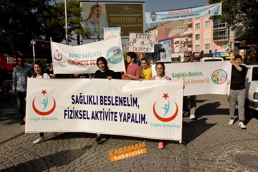 Sağlık İçin Karaman'ın Merkezinde Yürüdüler 1