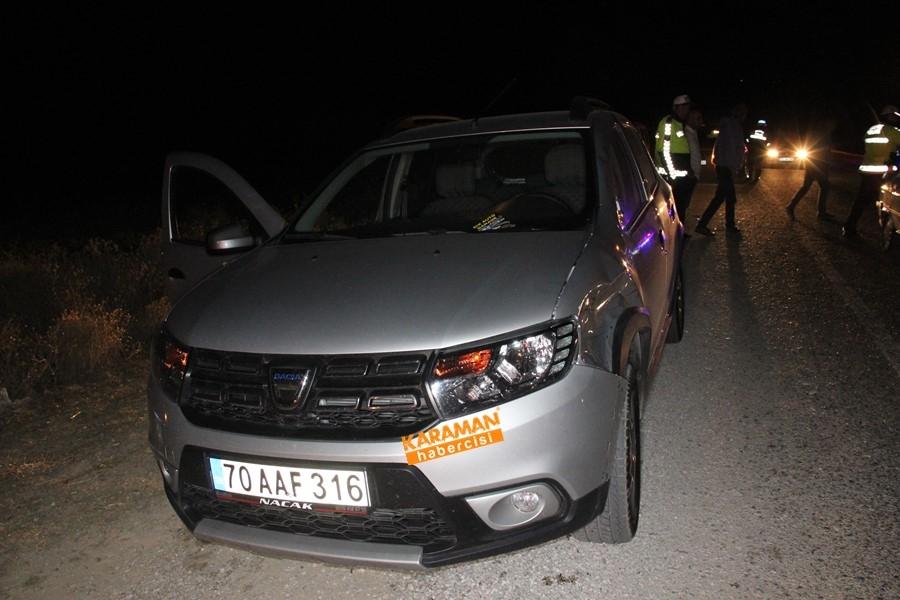 Karaman'da Kazaya Giden Sigortacıya Otomobil Çarptı 8