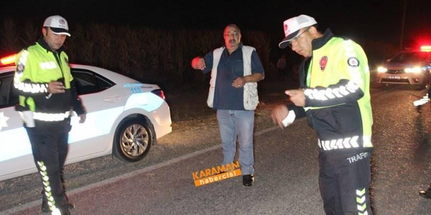 Karaman'da Kazaya Giden Sigortacıya Otomobil Çarptı