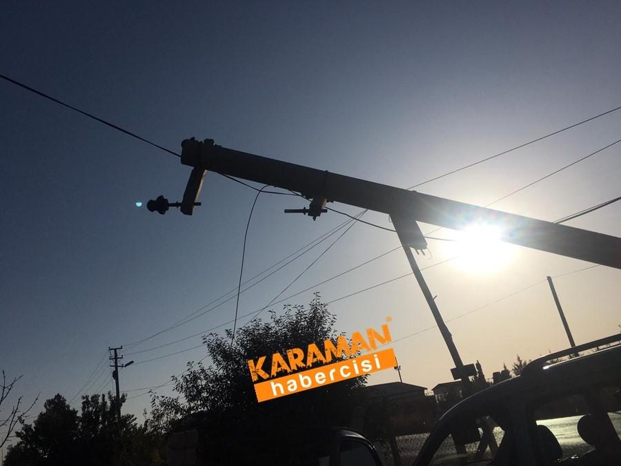 Karaman OSB Yolunda Trafik Kazası 1