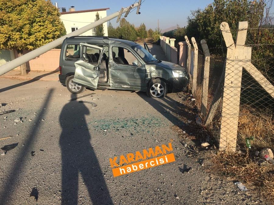 Karaman OSB Yolunda Trafik Kazası 14