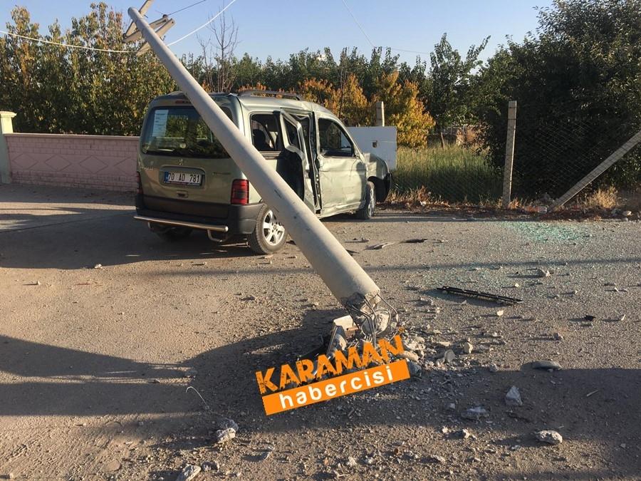Karaman OSB Yolunda Trafik Kazası 15