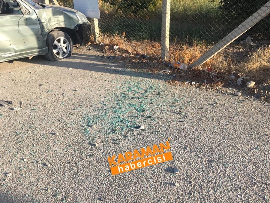 Karaman OSB Yolunda Trafik Kazası 16