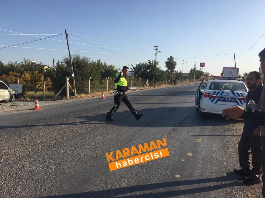 Karaman OSB Yolunda Trafik Kazası 4