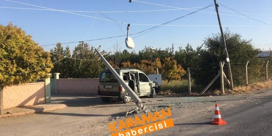 Karaman OSB Yolunda Trafik Kazası