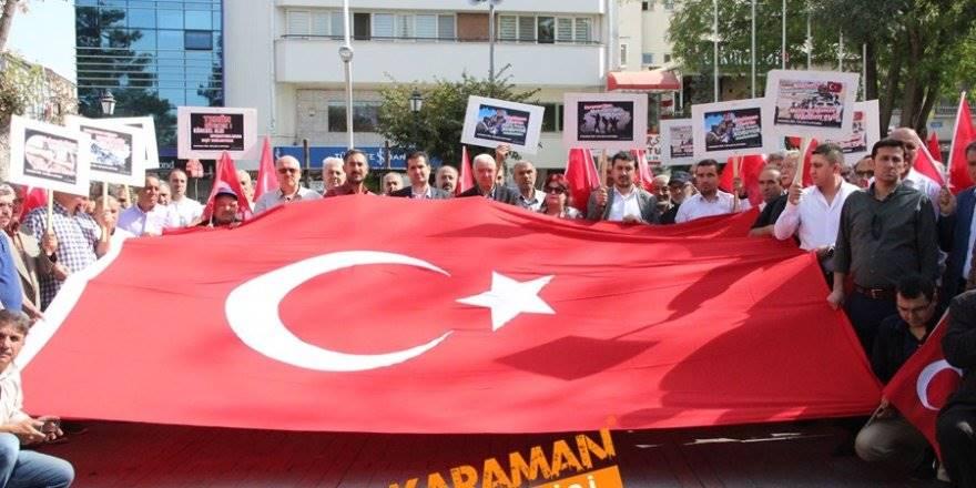 Karaman'da Mehmetçiğe Tam Destek