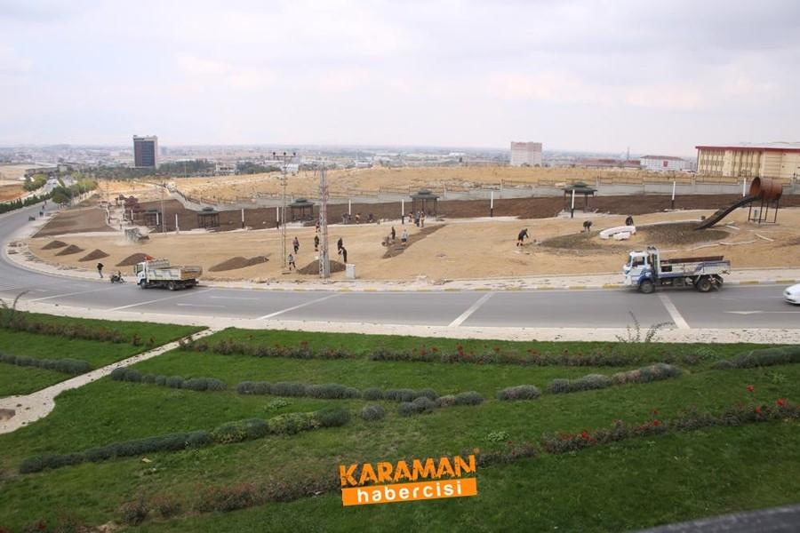 Karaman'da Üniversite Çevresine Park Yapılıyor 10